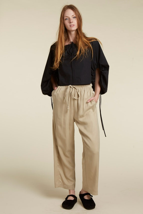 90S NEUTRAL DRAWSTRING PANT