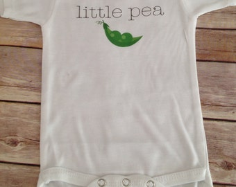 Little Pea one piece (Custom Text Colors/Wording)