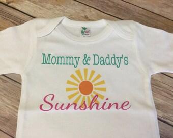 Sunshine One Piece or Shirt (Custom Text Colors/Wording)
