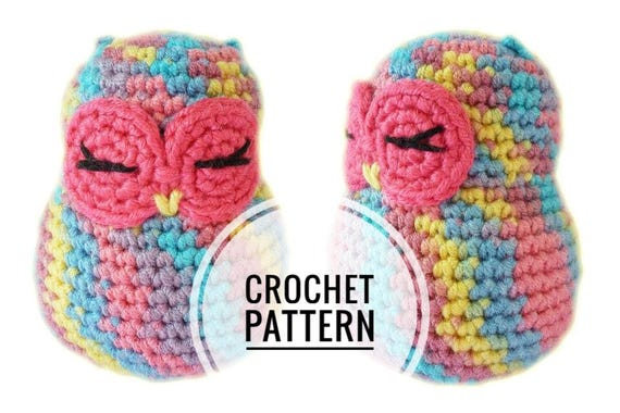 Super Easy Crochet Amigurumi Owl Pattern Etsy