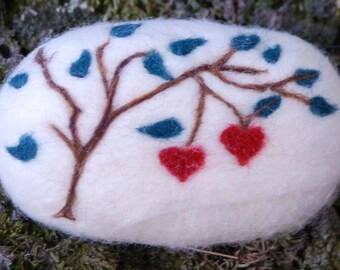 Felted Soap Fine Merino Wool Cherry Love Spring Gift