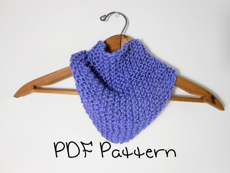 Knitting Pattern Easy Bandana Scarflet Quick Head Scarf Etsy