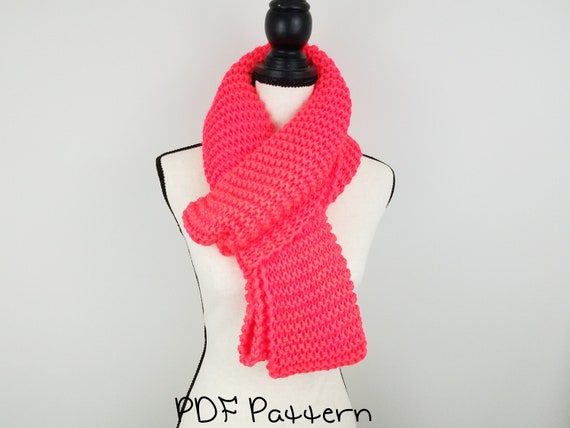 Beginner Infinity Scarf Pattern Easy Scarf Knitting Pattern Etsy