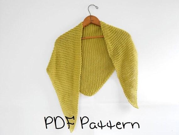 Shawl Knitting Pattern Easy Triangle Shawl Pattern Beginner Etsy