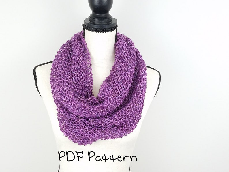 Lightweight Cowl Knitting Pattern Quick and Easy Beginner ...