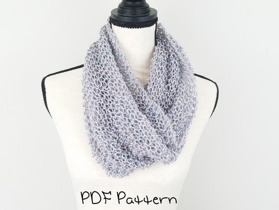 Lightweight Cowl Knitting Pattern Quick And Easy Beginner Knit Etsy