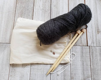 Beginner Knitting Kit, Knit Kit Shawl, Knitting Patterns For Women, Shawl Pattern, DIY Knitting Kit, Knitting Projects, Knit Patterns