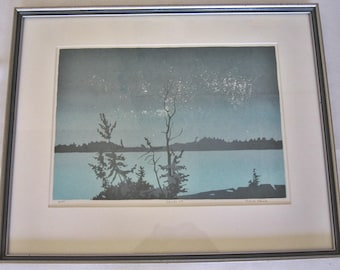 Mid Century Serigraph Print, Signed & Numbered