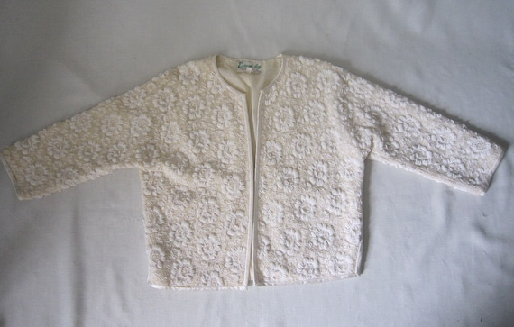 Vintage Beaded Lace Cardigan