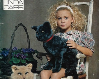 Vogue Pattern #7455~Rare Sitting Cats Pattern by Linda Carr From 1989~Long and Shor Hair Fur~Uncult Factory Folds