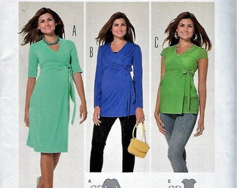 5d8111436ce12 BURDA STYLE Pattern #6957~Misses' Maternity Wear-Wrap Dress and Shirt~Misses  Sizes 8-20~New
