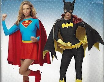 Superior Simplicity MISSESu0027 COSTUME Pattern #1036/D0967~DC Comics Justice League~ Batgirl And Supergirl~Missesu0027 Sz 6 14 Or 14 22~Uncut