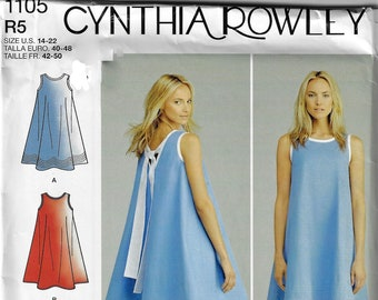 c2b999941 Simplicity Pattern #1105~Misses' Dresses Cynthia Rowley Collection-Flowy  Tank and Mini Skirt~Misses Sz 14-22~New-Un cut