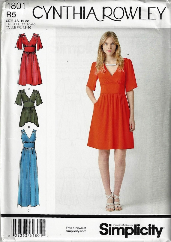 6-8-10-12-14 H5 SIMPLICITY Patterns 1104 Misses Separates Cynthia Rowley Collection