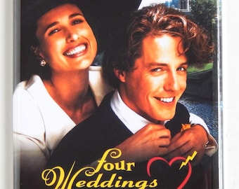 Four Weddings and a Funeral Movie Poster Fridge Magnet