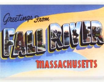Greetings from Fall River Massachusetts Fridge Magnet