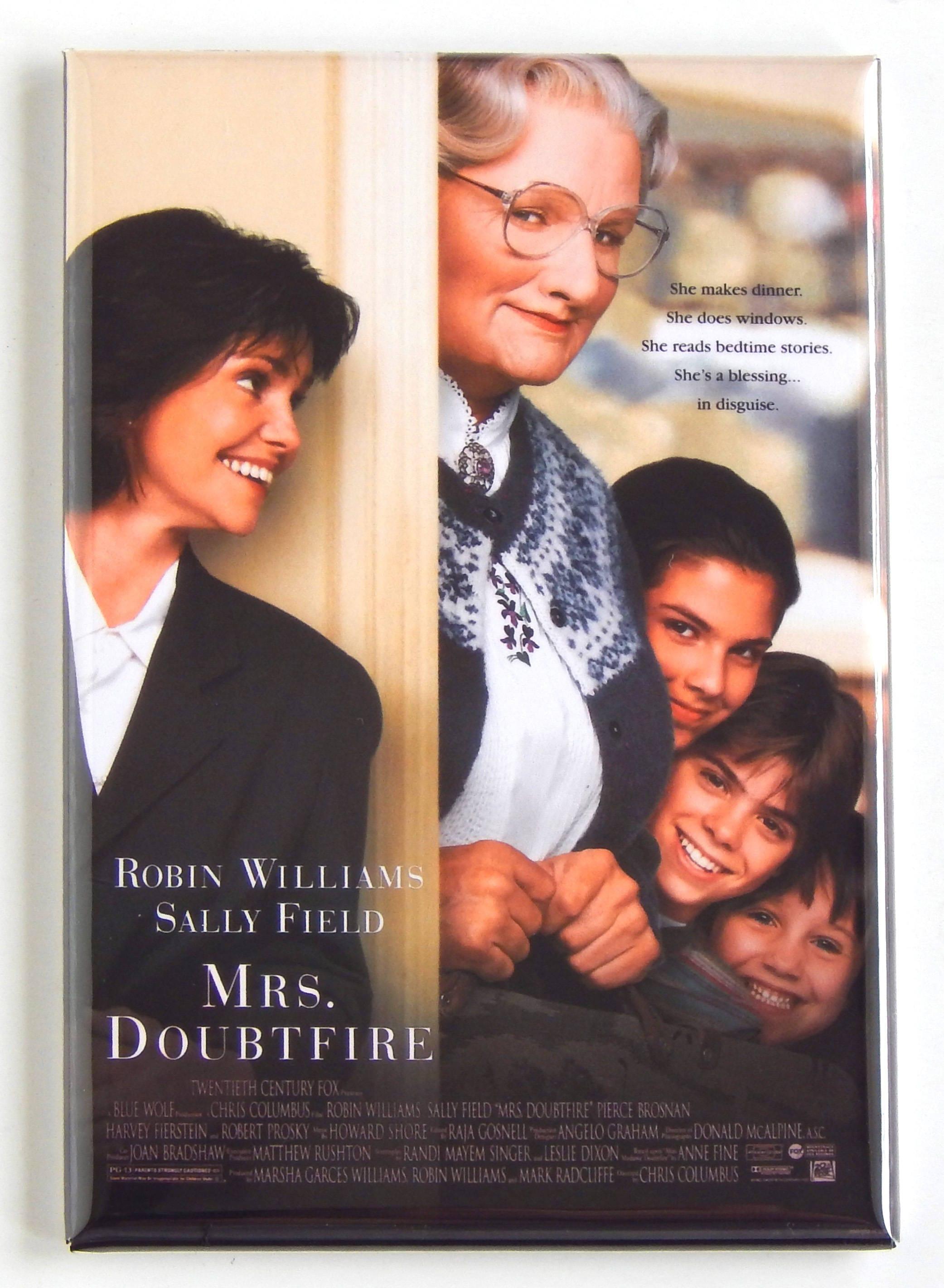 Mrs Doubtfire Movie Poster Fridge Magnet Etsy