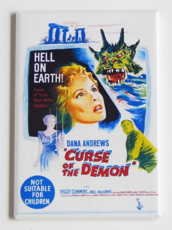 Malédiction du démon Movie Poster Magnet
