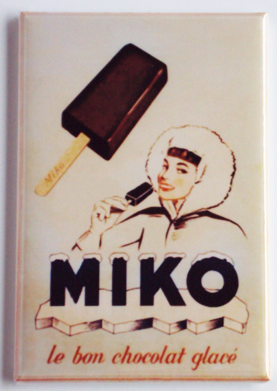 Miko Ice Cream Sign Fridge Magnet Etsy