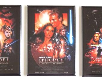 Star Wars Prequels Movie Poster Fridge Magnet Set