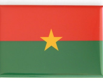 Flag of Burkina Faso Fridge Magnet