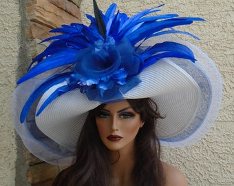 9077f30da blue Kentucky derby hat