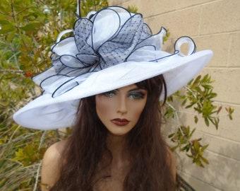 3b2fbb20e05c0 black white Kentucky derby hat