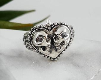 wedding gift tattoo style couples gift ideas Valentine/'s Day gift Skulls in love Eternal Love Patch Heart Love Bones