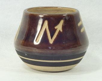 Vintage, Saguaro, Stoneware, Jug, Pot, Native American, Pottery, Home Decor, Collectible