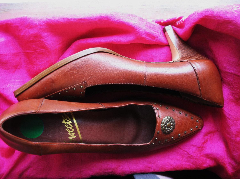 les chaussures de de chaussures cuir vintage de bonbons amaizing brun rouille m 1fca9a