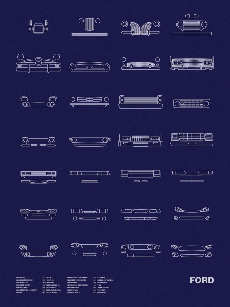 Auto Icon Screen Print Series Ford