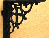 2 Gothic Old World Brackets Cast Iron Cross Shelf Bracket Christian Cross Shelf Support Display Shelf Support Bracket Bookshelf Curio Shelf