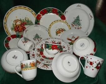 Christmas Dinnerware Etsy