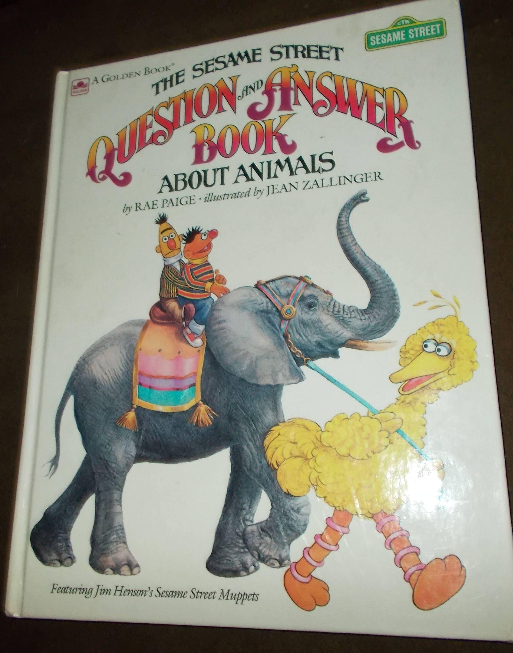 Sesame Street Animal Question & Answer Book Illustrated Jim Henson Big Bird  Muppets Childrens Book Vintage Golden Book