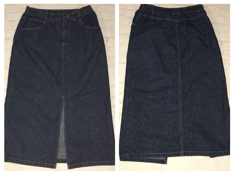 4553ddf81e Modest Denim Jean Skirts