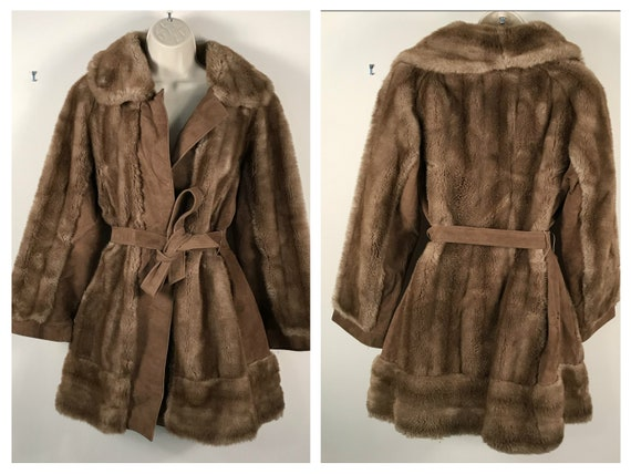 Vintage Russian Princess Leather Lilli Ann Brown B