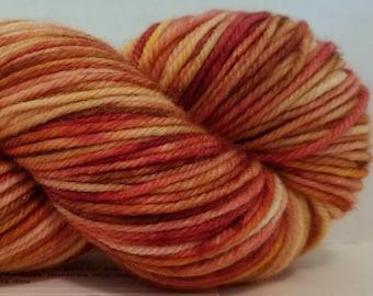 Hand Dyed Cashmere, Merino, Nylon DK weight yarn, 230 yds, 100g, 4 ply yarn