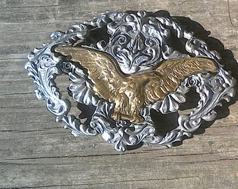 Pewter Eagle Vintage Belt Buckle