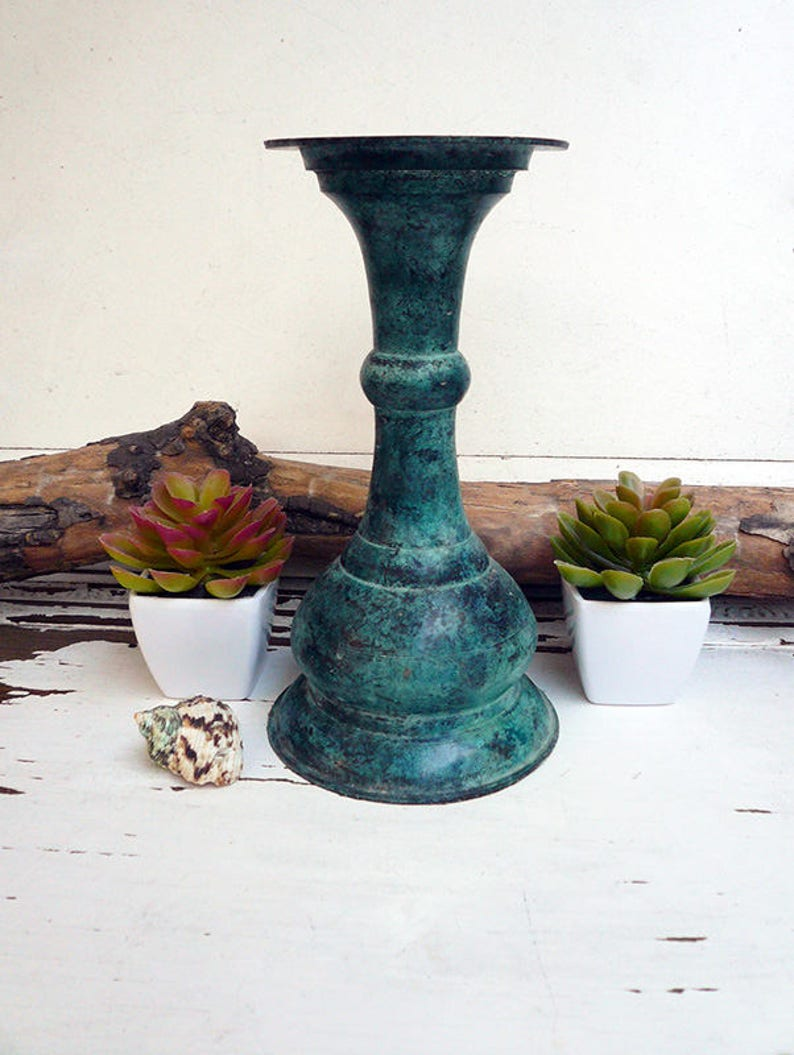 491d84cd0c3b9 Large Candle holder vintage Rustic Patina With 3 Sizes Candle Hold Base,  8.50