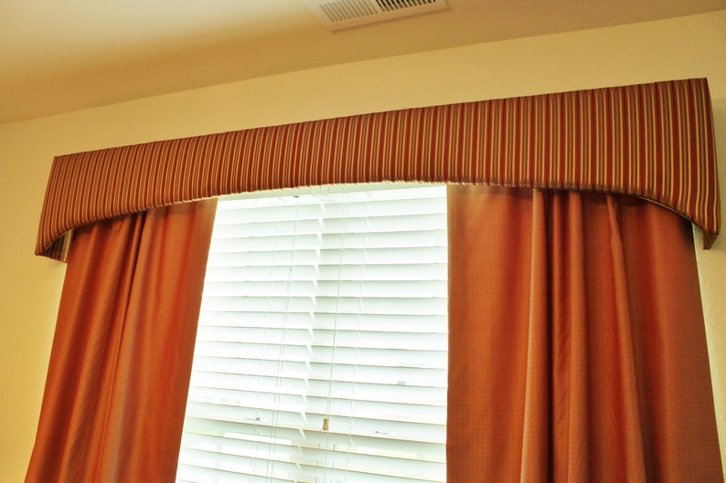 Upholstered Cornice Board and Fully Lined Drapery Panels image 0