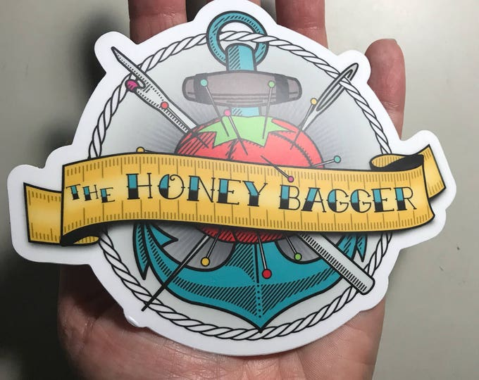 Large Honey Bagger Vinyl Sticker