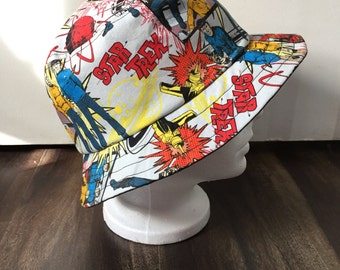 Unisex summer hat/bucket hat in a Star Trek fabric (Size Medium)