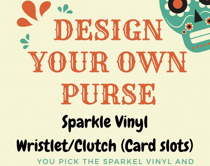 Diamond Tufted Sparkle Vinyl Wristlet/Clutch (Card slots/wallet)
