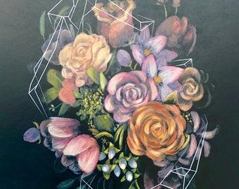 Geometric Bouquet Illustration Print