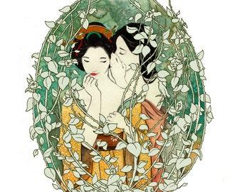 Sub Rosa Illustration Print