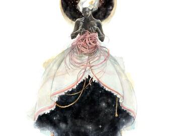 Woven Universe 8.5x11 Illustration Watercolor Print
