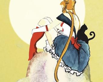La Lune - Sailor Moon 12x18 Illustration Print
