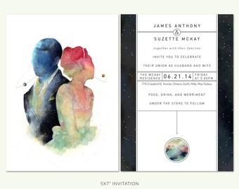 Galaxy Wedding Invite Suite // Custom Printable