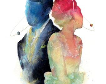 Under the Stars Aligned Illustration Print