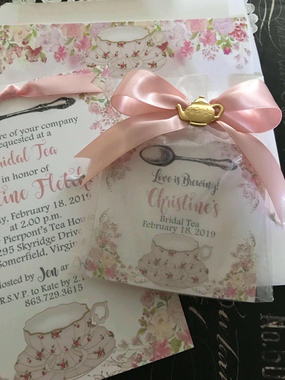 Floral Love Is Brewing Tea Party Favors Tea Pot Tea Cup Etsy
